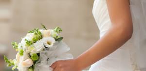 cropped bride
