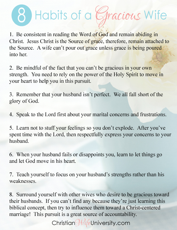 8 Habits of a Gracious Wife by Jolene Engle